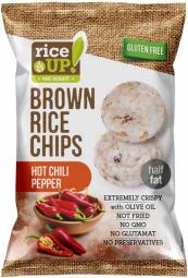 Rýžové chipsy chilli papričky 60 g Rice Up
