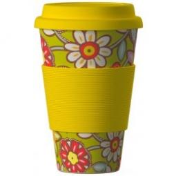 Eco Bamboo Cup - Daisies Yellow žlutý
