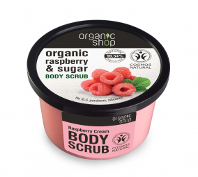 Organic Shop - Malinový krém - Telový peeling 250 ml