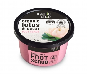 Organic Shop - Peeling na nohy Lotos a cukor 250 ml