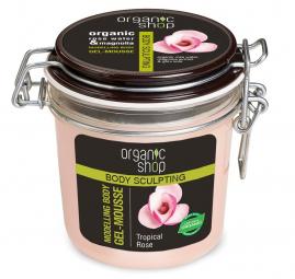 Organi Shop - Tropická růže - modelující tělová, gelová pěna 350 ml