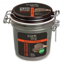 Organic Shop - Černá kmín - Výkonný tělový peeling 350 ml
