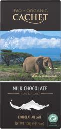 CACHET čokoláda Tanzania Organic mléčná 40% 100g