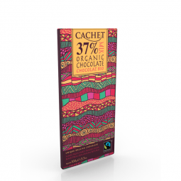 CACHET čokoláda mléčná BIO ORGANIC 37% 100g
