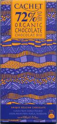 CACHET čokoláda hořká BIO ORGANIC 72% 100g
