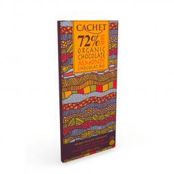 CACHET čokoláda hořká BIO ORGANIC 72% mandle 100g