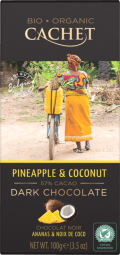 CACHET čokoláda Tanzania Organic hořká 57% ananas a kokos 100g