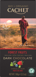 CACHET čokoláda Tanzania Organic hořká 57% lesní ovoce 100g