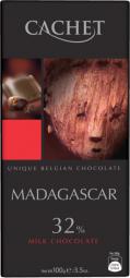 CACHET čokoláda mléčná MADAGASKAR 32% 100g
