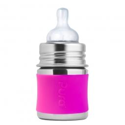 Pura® nerezová kojenecká láhev 150ml - Aqua-1