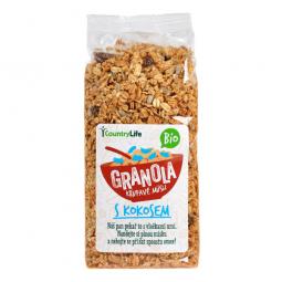 Granola - Křupavé müsli s kokosem 350g BIO   COUNTRYLIFE