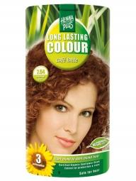 Hennaplus Dlouhotrvající barva Café Latte 7.54