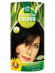 Hennaplus Dlouhotrvající barva Tmavě Hnědá 3