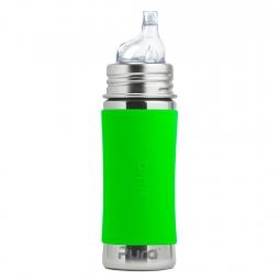 Pura® nerezová láhev s náustkem 325ml - Zelená