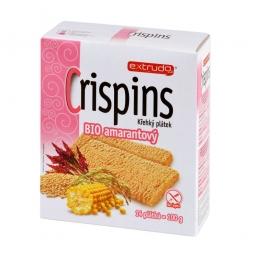 Chlebíček kukuřičný s amarantem Crispins bezlepkový 100 g BIO   EXTRUDO