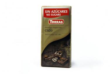 Torras čokoláda DIA hořká ček. s kávou 75g