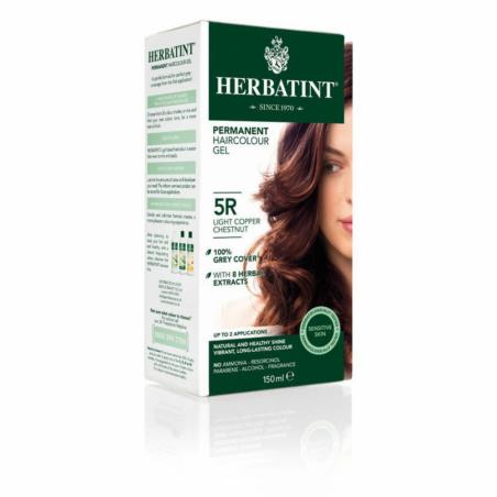 HERBATINT permanentní barva na vlasy Svetly medeni gaštan 5R