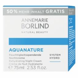 Aquanature Hydratační noční krém 50 ml +50% zdarma