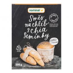 AKCE SPOTŘEBA: 02.10.2019 - Směs na chléb s chia semínky bezlepková 500g   NOMINAL