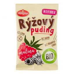 Pudink rýžový malinový bezlepkový 40g BIO   AMYLON