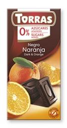 Torras čokoláda DIA hořká ček. s pomerančem 75g
