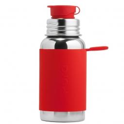 Pura® nerezová láhev se sportovním uzávěrem 550ml - Červená