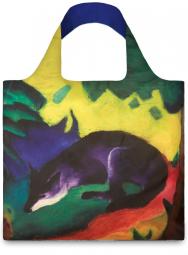 Nákupní taška LOQI Museum, Marc - Blue Fox