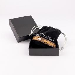 Náramek na ruku - Walnut Oak s krabičkou