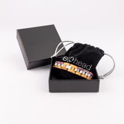 Náramek na ruku - White Rainbow s krabičkou