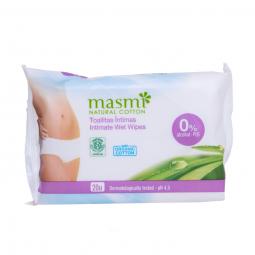 Organické bavlněné intimní ubrousky 20ks MASMA