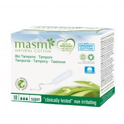 Tampony z organické bavlny Super MASMA
