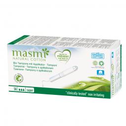 Tampony z organické bavlny s aplikátorem Super MASMA