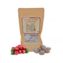 Medové bonbóny - s brusinkami 70g