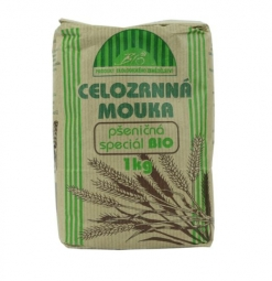 Mouka pšeničná celozr.špeciál 1kg BIO