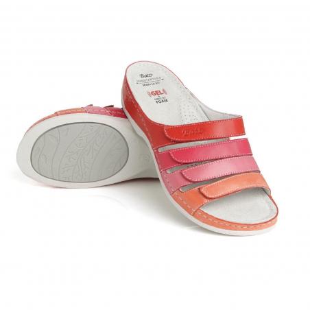 Batz dámské zdravotní pantofle Sylvia pink mix 38