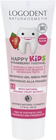 Happy Kids zubní gel jahoda