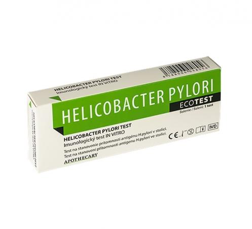 ECOTĚS Helicobacter pylori test, diagnostický test ze stolice