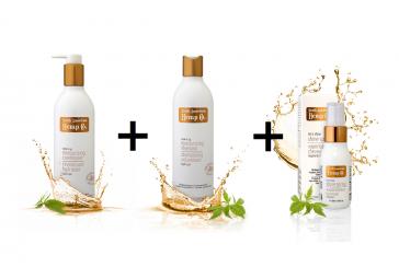 Hydratační kondicionér + hydratační šampon + Sprej pro zářivý lesk ZDARMA
