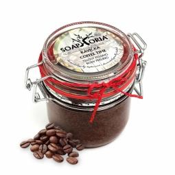 Kávička - organický solný tělový peeling