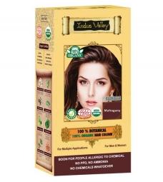 100% Rostlinná, 100% Organická barva na vlasy Mahagonová
