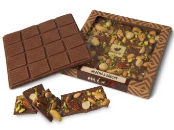 Čokoláda 'Mléčná s ořechy'