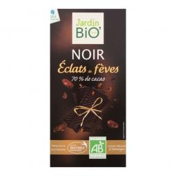 Čokoláda hořká s kousky kakaových bobů 100 g BIO