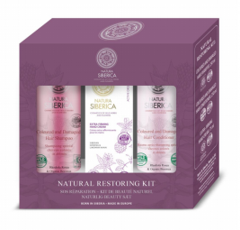 Sada přirozené obnovy (šampon + kondicionér + krém na ruce)