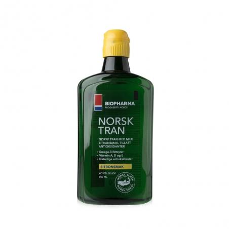 Rybí olej - NORSK TRAN - Přírodní citronová příchuť 500 ml