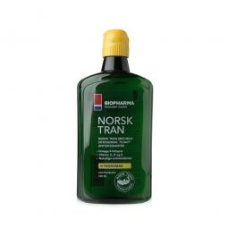 Rybí olej - NORSK TRAN - Přírodní citronová příchuť 375 ml