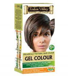 Gelová barva na vlasy Hnědá 4.0