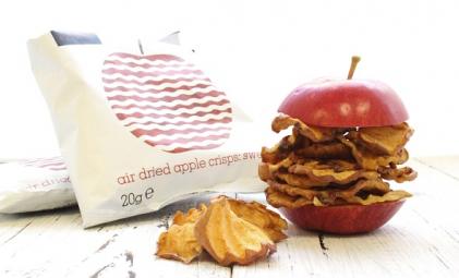 Křupavé jablkové chipsy sladké 20g