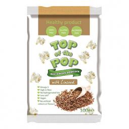 Popcorn ochucený lněnými semínky