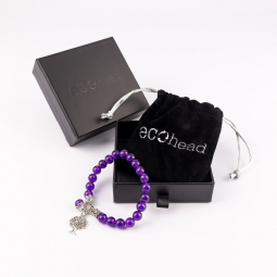 Náramek - Purple Tree s krabičkou