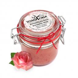 Romantická růže - organický solný tělový peeling